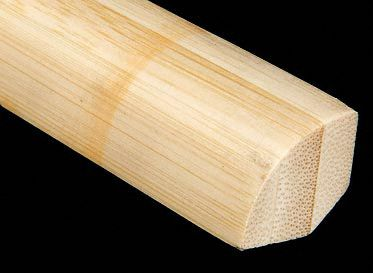 3/4&#034; x 3/4&#034; Natural Bamboo Quarter Round